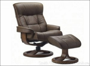 Bergen Recliner and Ottoman by Fjord's