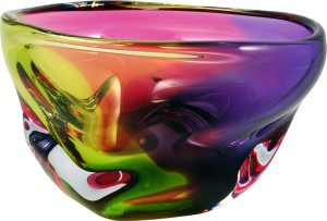 PH41B %22Guavo%22 Bowl, The River Collection by HarrieArtGlass