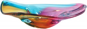 PH41P %22Orient%22 Plate, The River Collection by HarrieArtGlass
