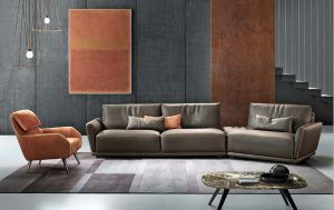 Gamma Victor Sectional, Giselle chair