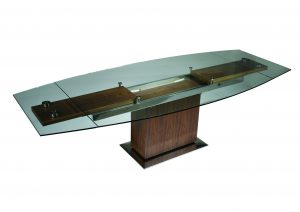 Mercurio Table By Kube Furniture. Stunning Glass Extendable Table Sits The  Entire Family At Dinner Time.